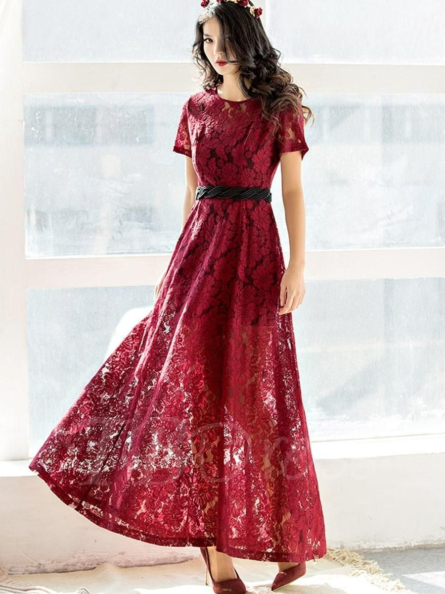Short sleeve red womens lace dress lace dress short sleeves and