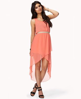 FOREVER21 - $24.80 Coral high/low dress... pretty and lightweight ...