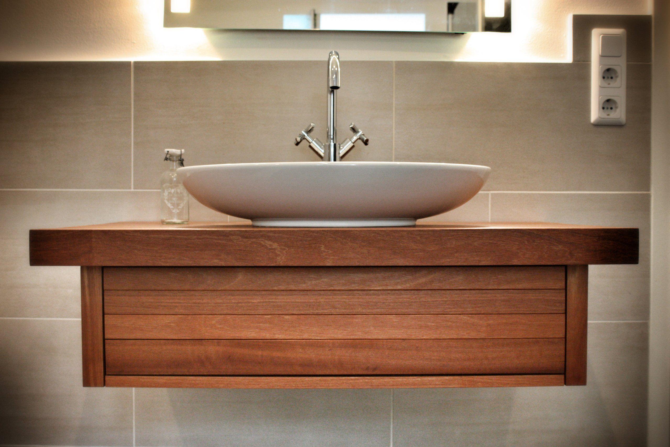 Küche und bad design solids m saint george waschtisch aus holz  waschbeckenunterschrank