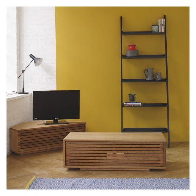 Max Oiled Oak Corner Tv Stand With Slatted Front Living Room With Fireplace Oak Corner Tv Stand Interior Design
