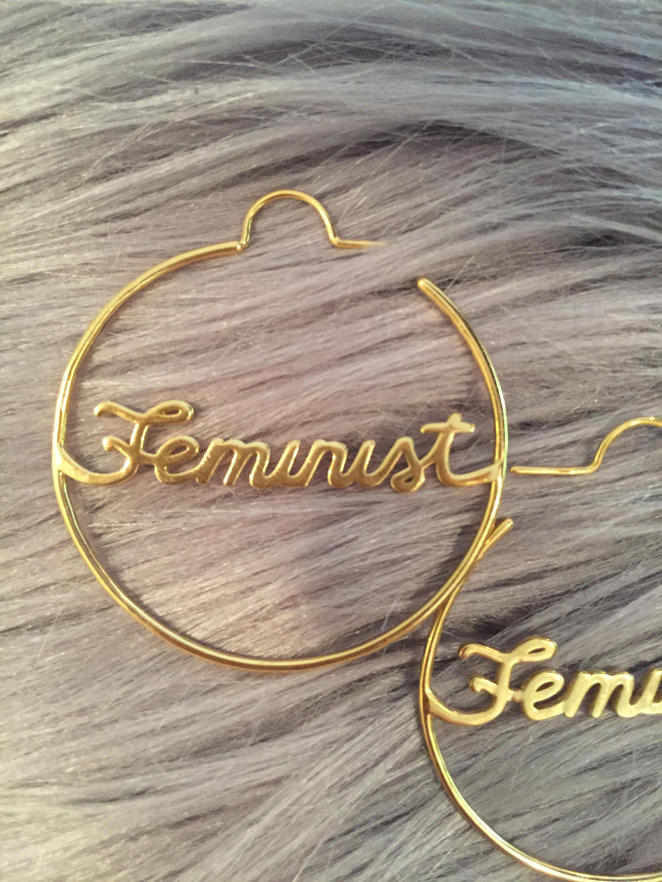 feminist earrings gifts for strong women girl power jewelry