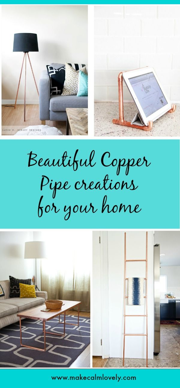 Beautiful copper pipe DIY projects for your