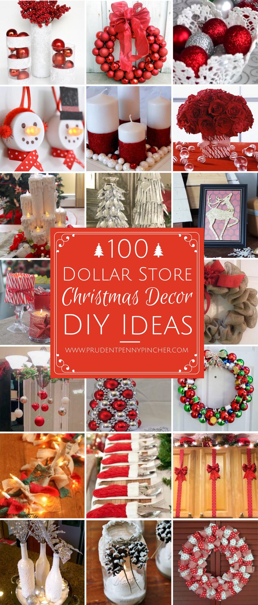 100 DIY Dollar Store Christmas Decor Ideas Dollar store