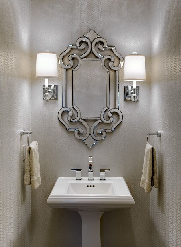 This Jewel Of A Powder Room Was Created By Design Connection Inc