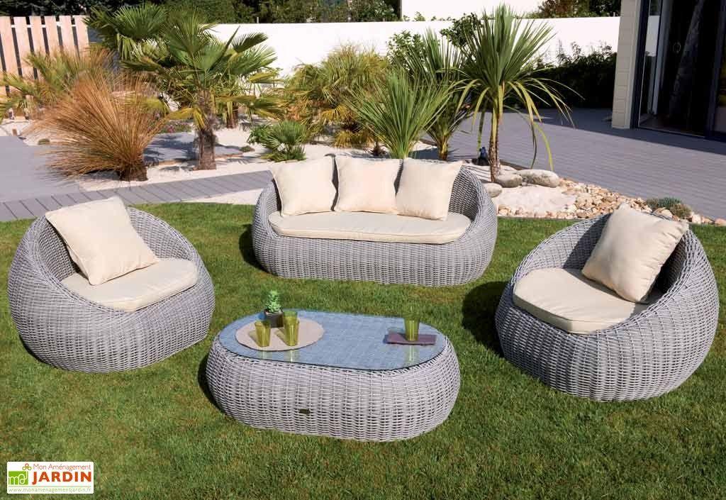 Salon jardin tresse mobilier de jardin - Châtellerault