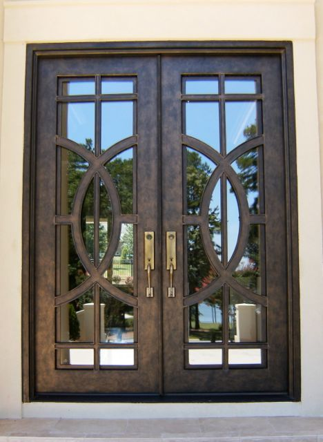 Contemporary Iron Double Door Clark Hall Iron Doors