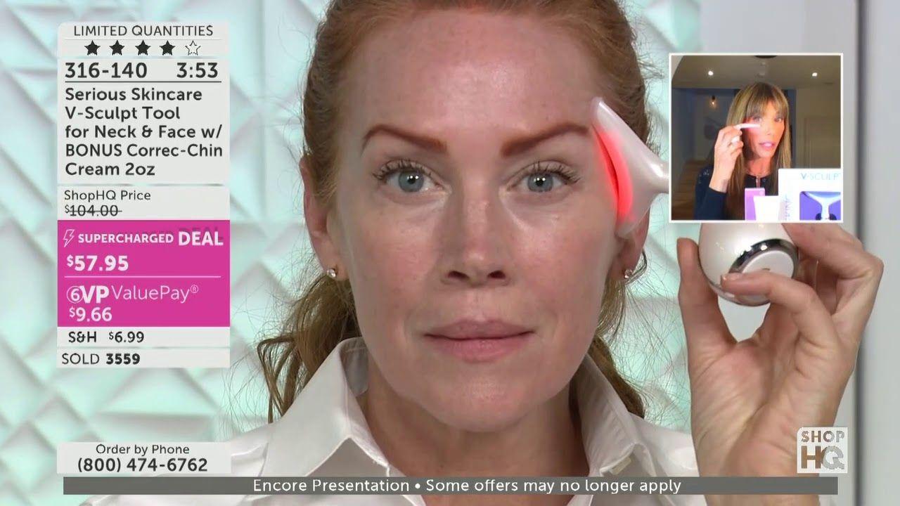 Serious Skincare V Sculpt Tool For Neck Face W Bonus Correc Chin Crea Skin Care Face Sculpting