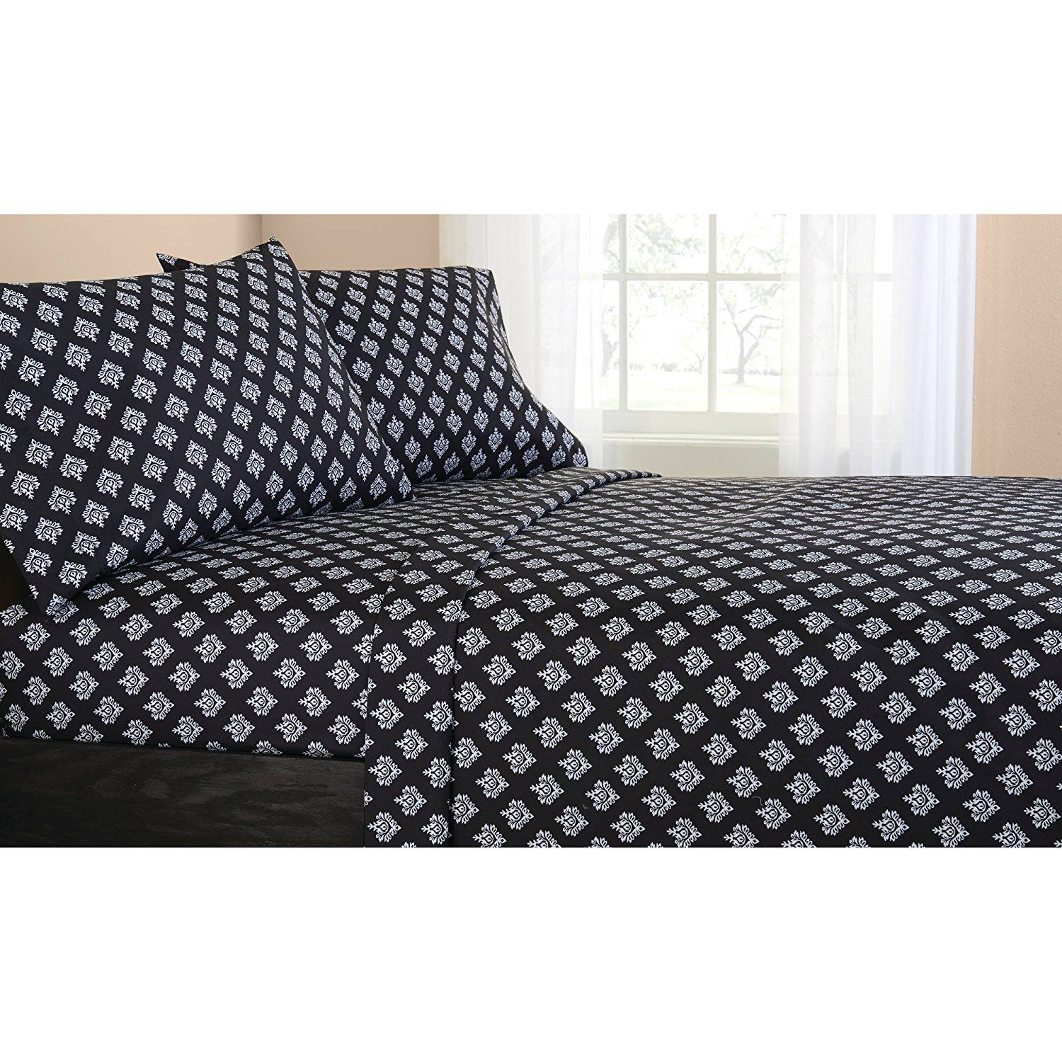 Mainstays Classic Noir Bed In A Bag Bedding Set, FULL   Furniture ...