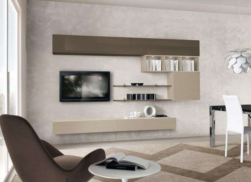 Arredare il soggiorno con il color tortora - Mobile soggiorno ...