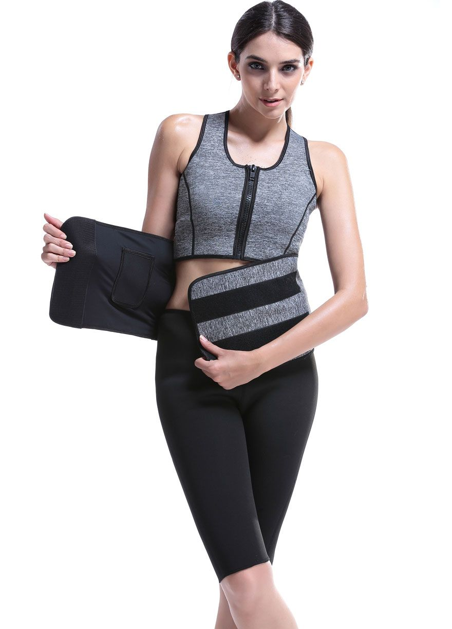 47580a610 Gray Snowflake Neoprene Thermal Velcro Body Shaper Vest With Zipper Sports  Waist Trainer Work out Clothing Sexy Lingeire