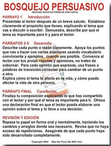 Writing a Persuasive Essay Spanish High School Lesson Plans - essay