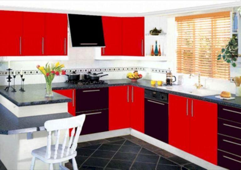 Red And Black Kitchen Ideas 15 Black Kitchen Decor Black And Red Kitchen Red Kitchen