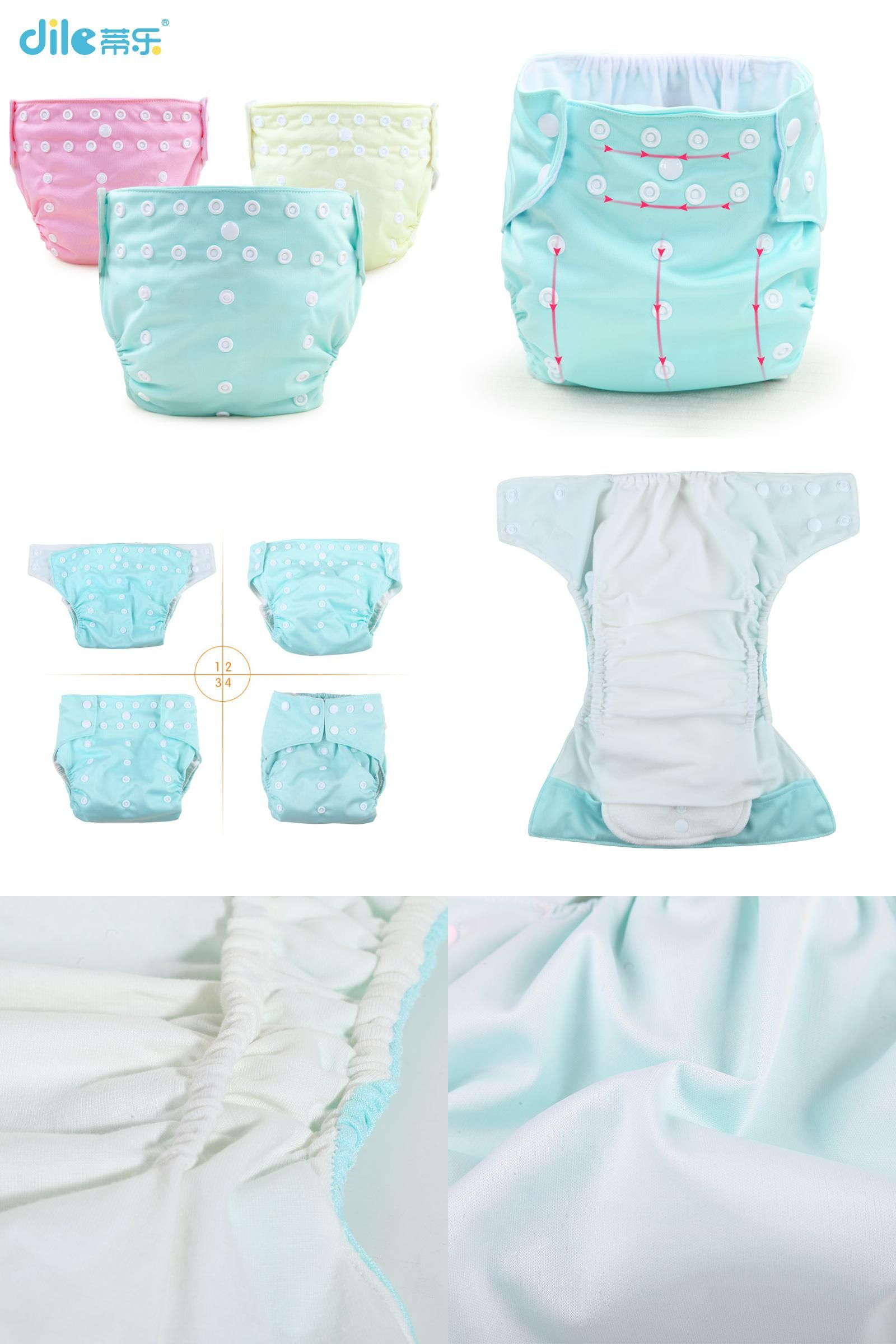 Reusable Infant Baby Waterproof Nappy Soft Washable Inserts Covers Diapers Pants