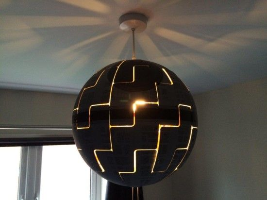 How To Turn An Ikea Lamp Into An Awesome Star Wars Death Star