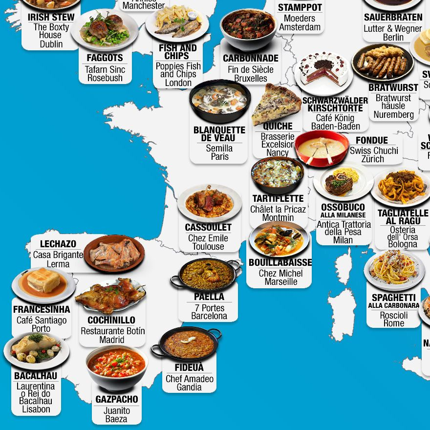 30 Maps Reveal The Tastiest Dishes Around The World Around The