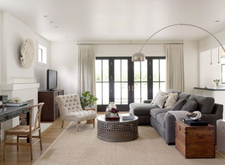 60 Stylish Farmhouse Living Room Curtains Ideas | Living room ...