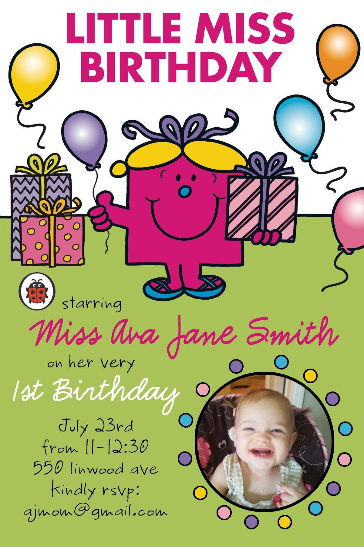 Little Miss Birthday Photo Invitation @kimberly boren | Pink Ink ...