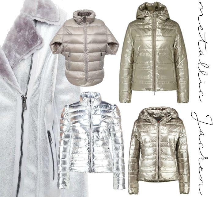 Trend silberne Winterjacken