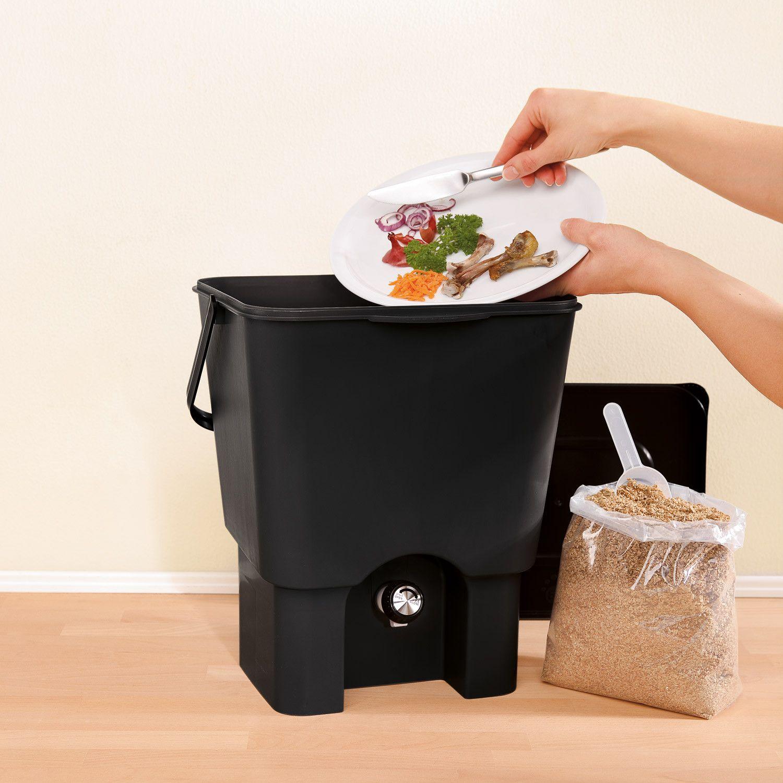 "Kuechen-Komposter-Set ""Bokashi"". 20 Eimer plus Bokashi-Ferment"