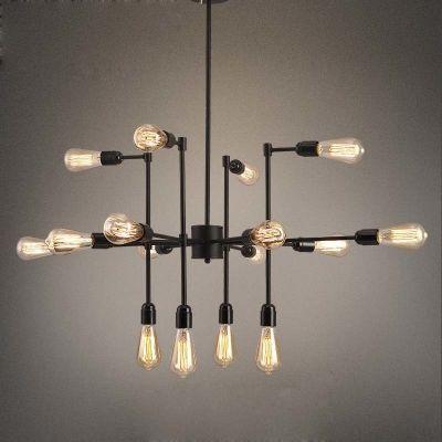 16 wide industrial style 16 light sputnik led chandelier indoor