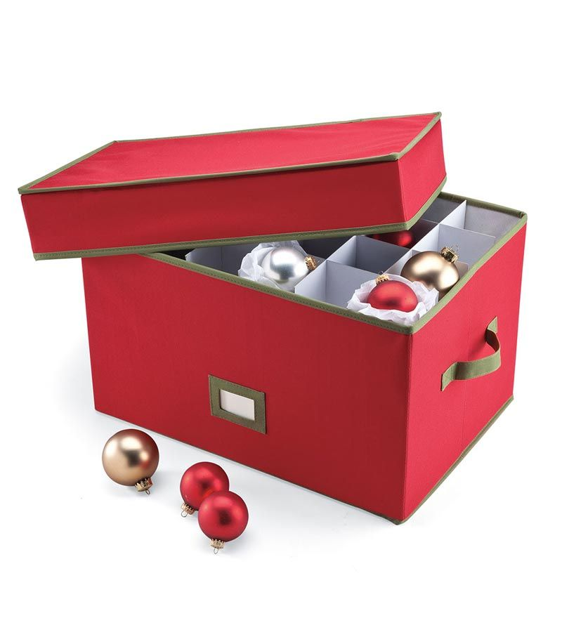 Keep The Christmas Queen Organized With This Heavy Duty Ornament Storage Box.  Keeps Ornaments Safe, Clean And Ready To Use Year After Year.