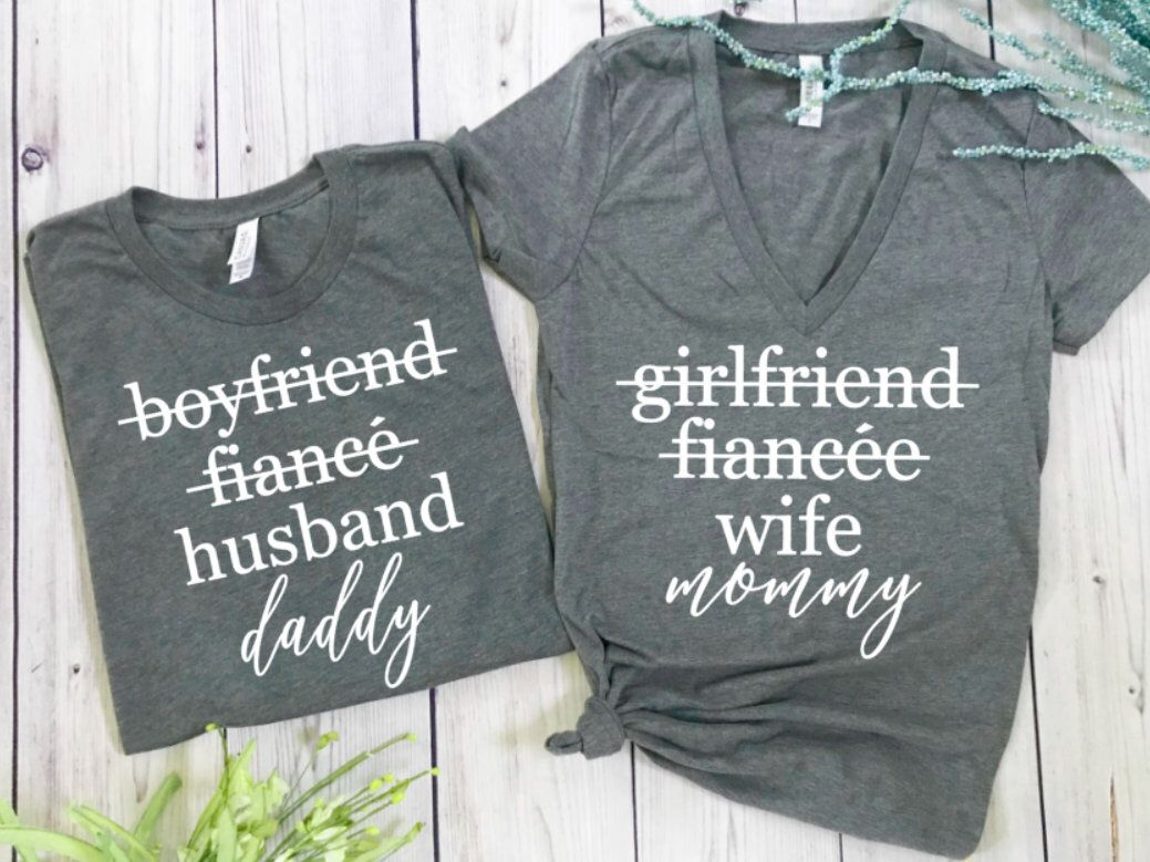 2a67cadc Excited to share this item from my #etsy shop: pregnancy announcement shirts,  pregnancy announcement couples, baby announcement, pregnant shirt, ...