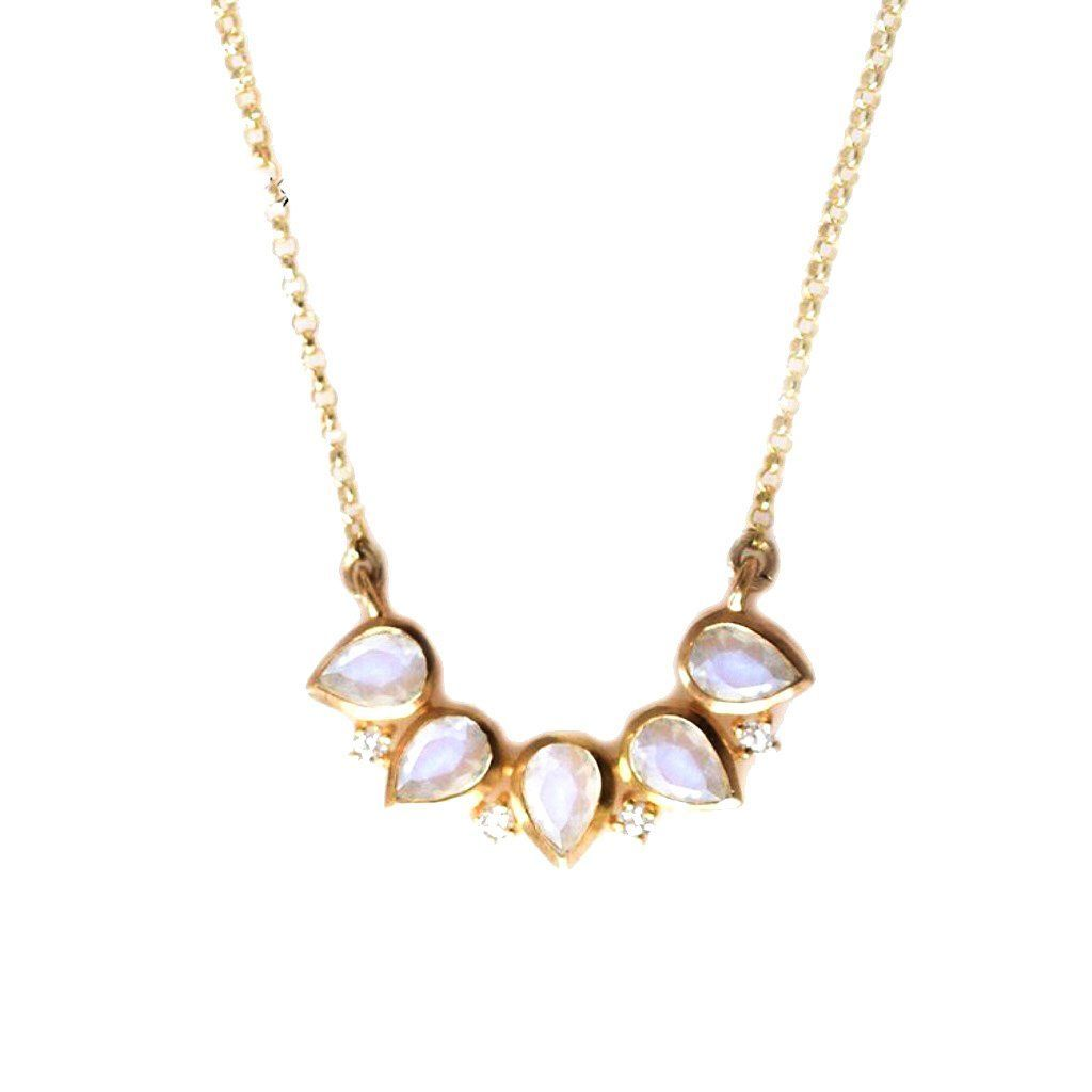 Moonstone crown pendant necklace teardrop rainbow moonstone crown moonstone crown pendant necklace teardrop rainbow moonstone crown pendant necklace gold bar with rainbow moonstones aloadofball Image collections