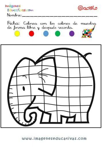 Coloriage Calcul Elmer.Epingle Par Stephanie Coomans Sur Exploitations D Albums