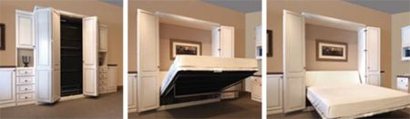 Murphy beds--Madison Bi-Fold Bookcase Bed Great idea for guests or small spaces