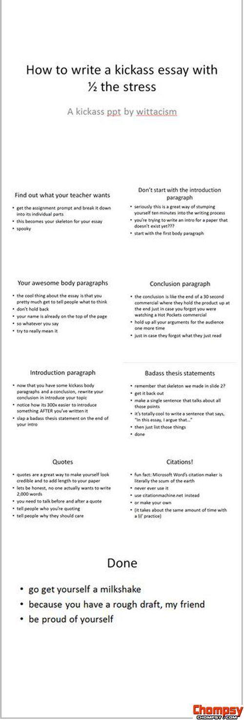 Kick Ass Resume How To Write A Kickass Essay  Src Httpwittacism.tumblrpost .