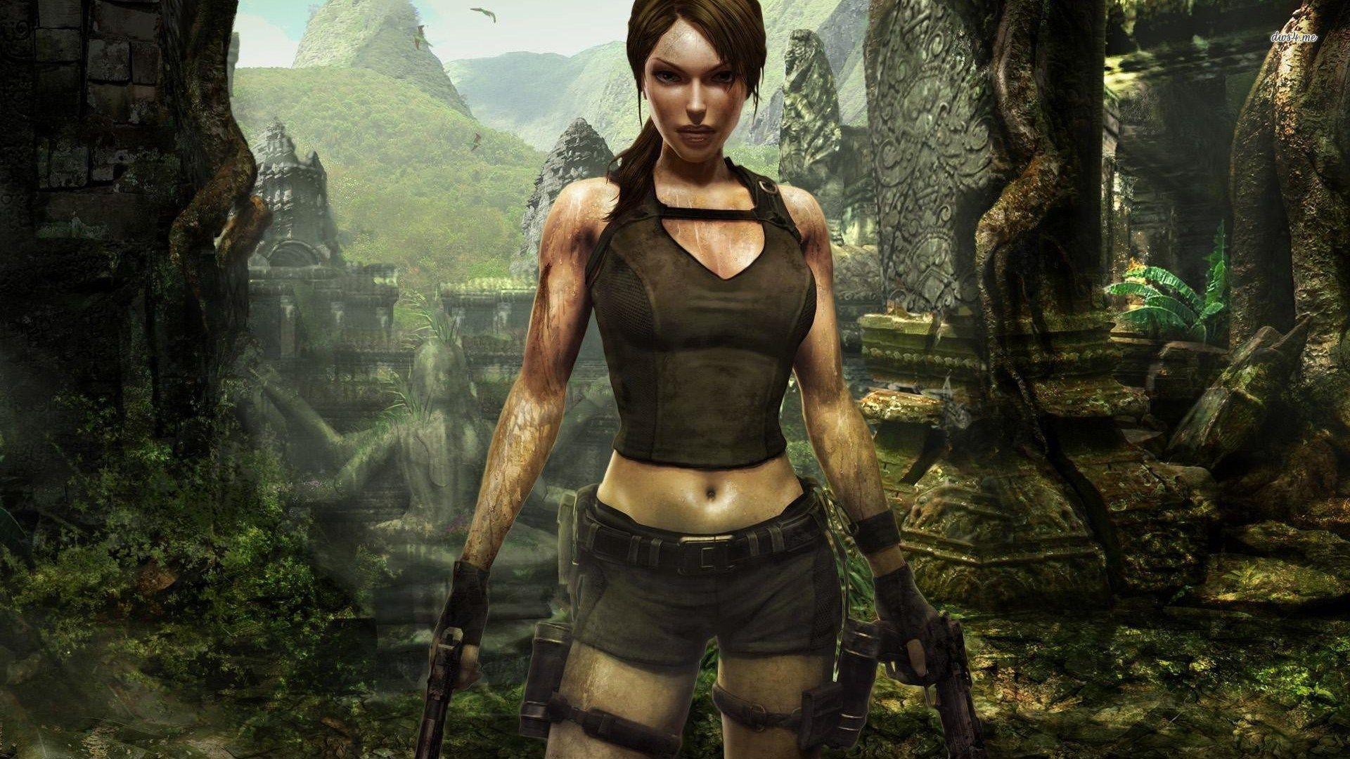 Magnificent Lara Croft In Tomb Raider Underworld Wallpaper Tomb Raider Lara Croft Lara Croft Wallpaper