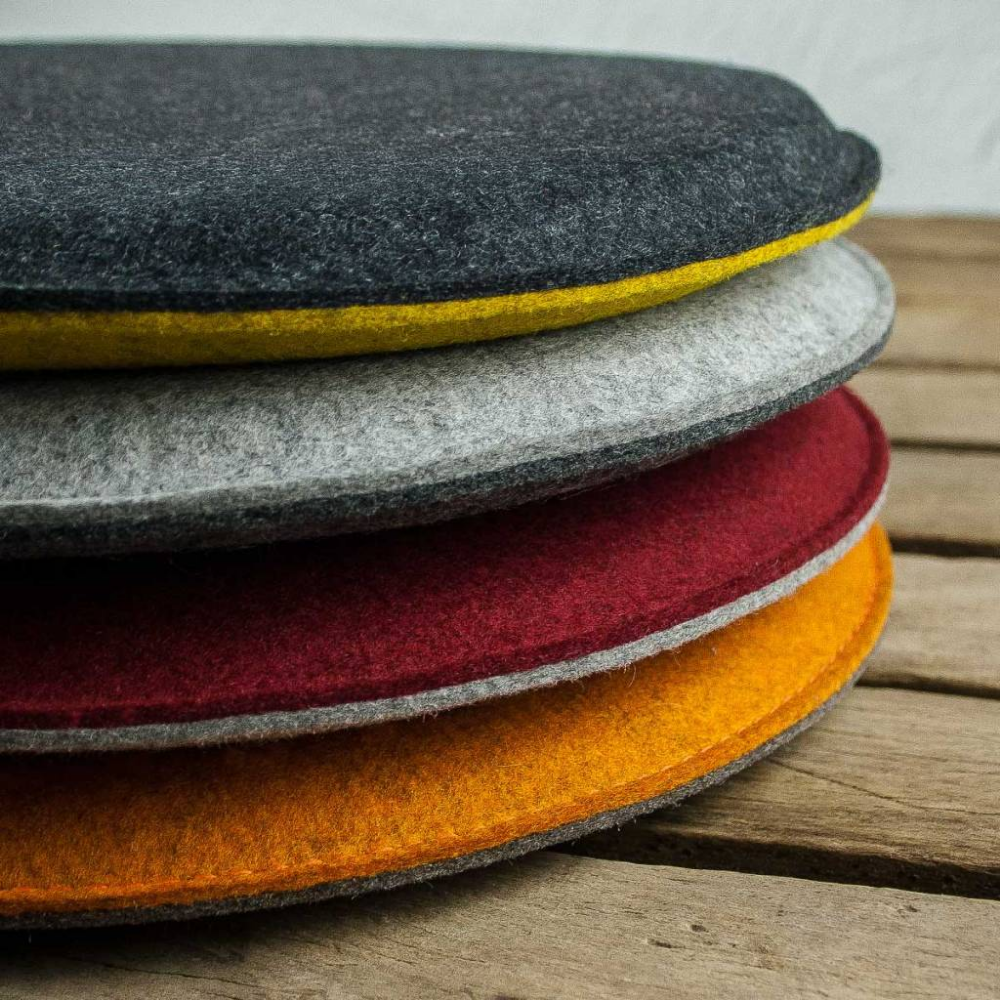Felt Seat Cushions Padded Round Chair Cushions Bench Cousions Stuffed Upholstered 30cm 32 5cm 35cm 37 5cm 40cm Round Chair Cushions Chair Cushions Diy Chair Cushions