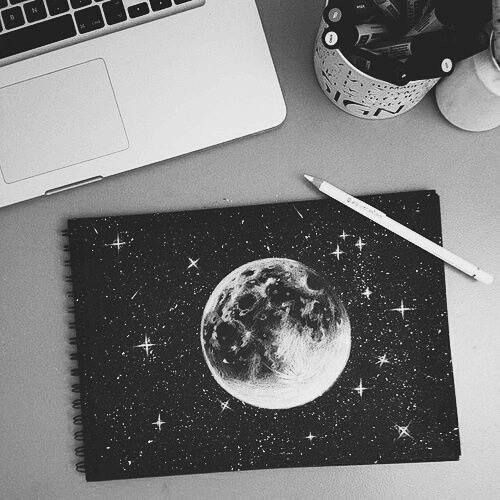 moon, art, and drawing image #dishtowels