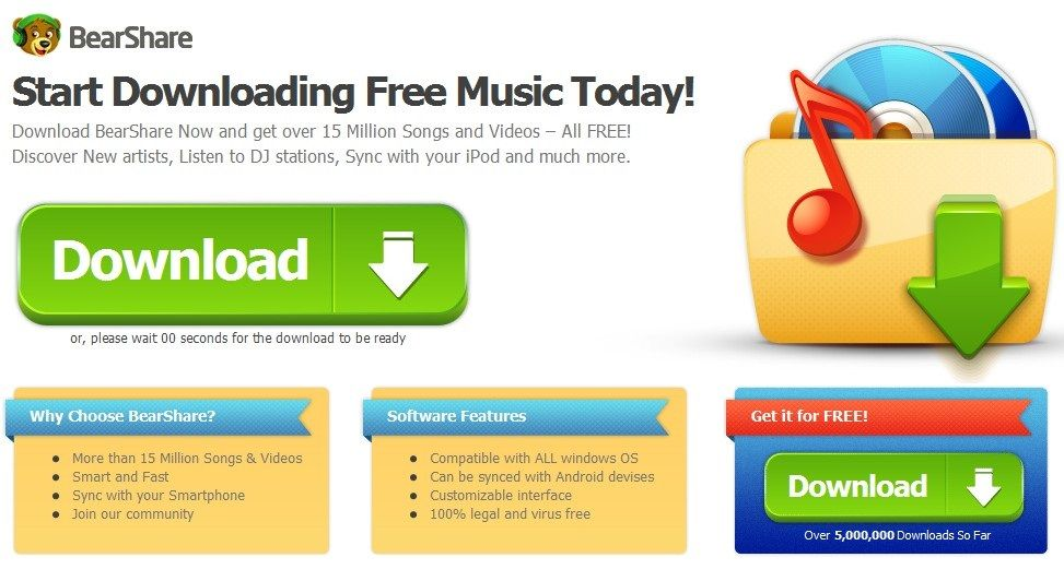 bearshare music download for android