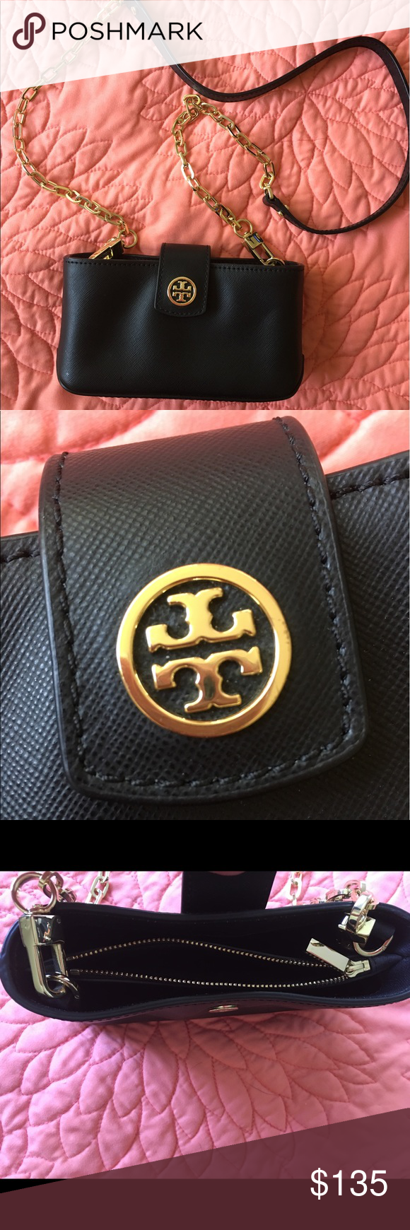 caec287b1561 Tory burch crossbody Authentic Tory burch Brand new used once small black  cross body. It s