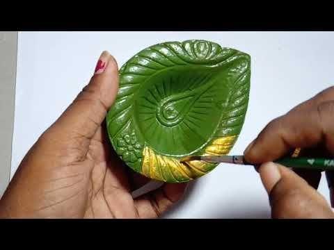 DIY Diwali Dekoration Ideen | Diwali Diya Dekoration für Schulwettbewerb - YouTube #diwalidec...