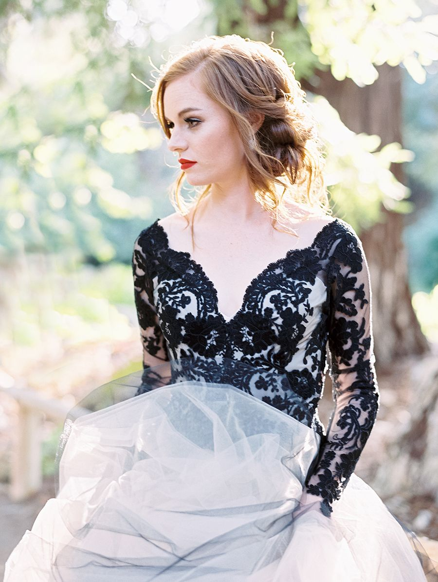 Edgy Black Lace Wedding Inspiration | Lace wedding, Black laces and ...