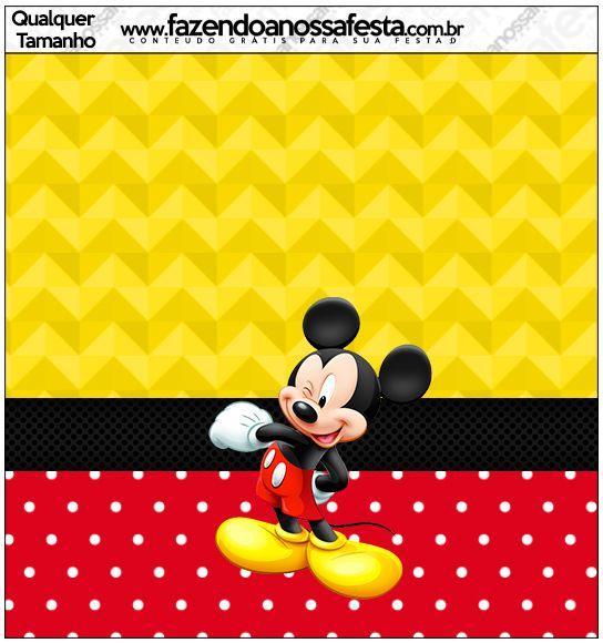 Molde Quadrado Mickey: