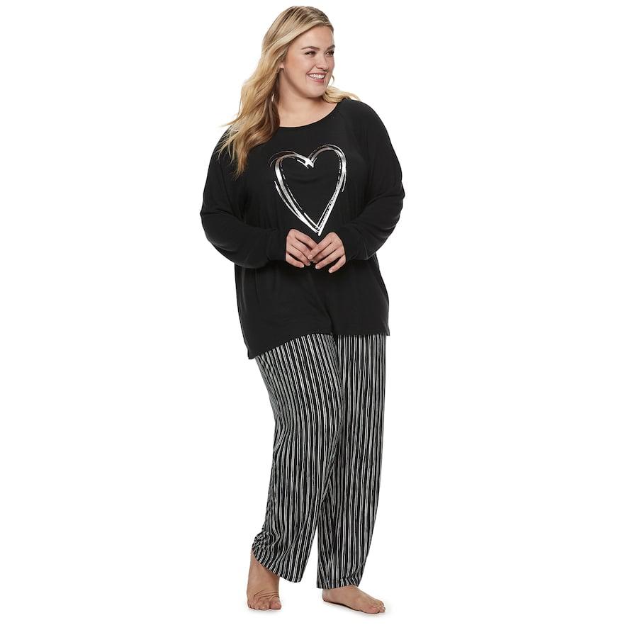 "e49be92c92 Plus Size SONOMA Goods for Lifeâ""¢ Raglan Graphic Tee   Pants Pajama Set"