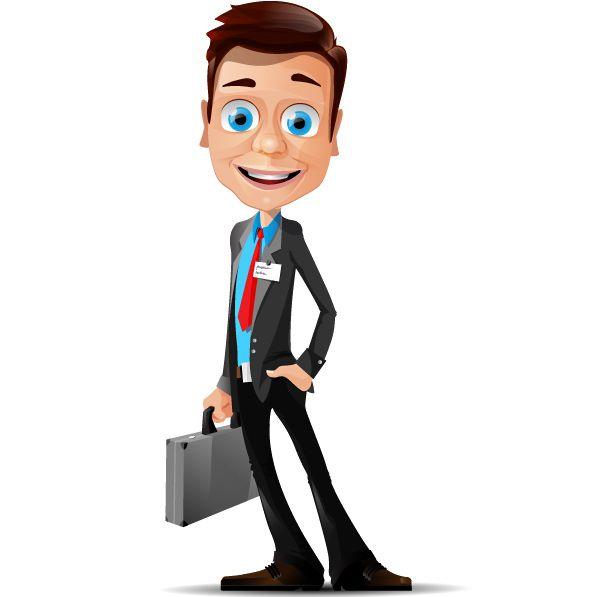 Free Businessman Vector Mascot Vector Character Businessman