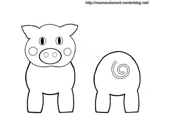 Coloriage cochon pour rouleau de papier wc boerderij - Photo de cochon a imprimer ...