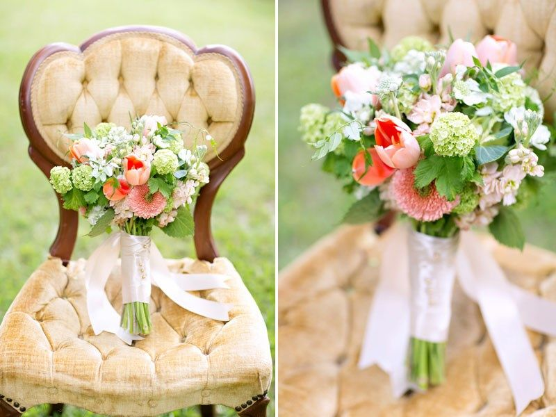 green pink peach wedding decor Mint Green Wedding Inspiration by