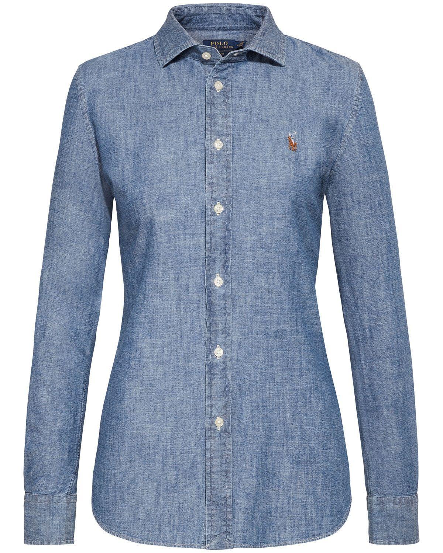 661e298537e Polo Ralph Lauren Jeansbluse Slim Fit | LODENFREY | Polo | Polo ...