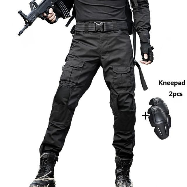 ea2aafb972 Military Tactical Pants Men Camouflage Pantalon Frog Cargo Pants Knee Pads  Work Trousers Army Hunter SWAT Combat Trousers