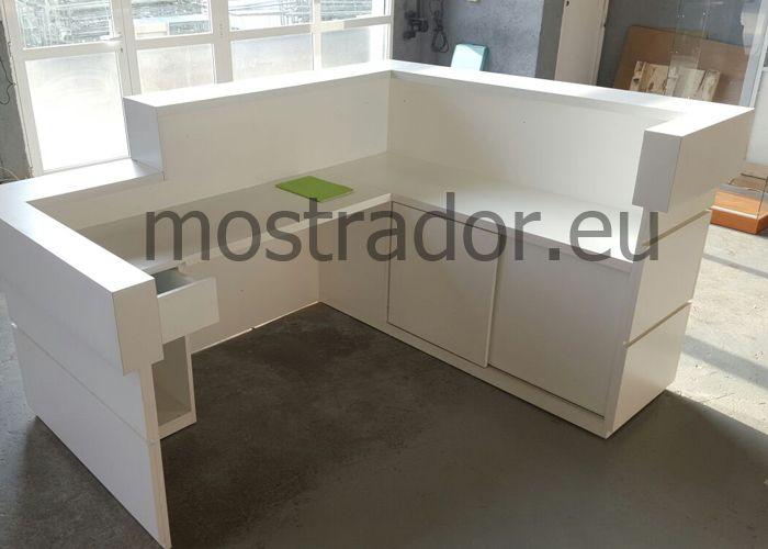 Mostradores De Recepcion De Estetica Vision Trasera Muebles De Recepcion Mostradores Salones De Diseno