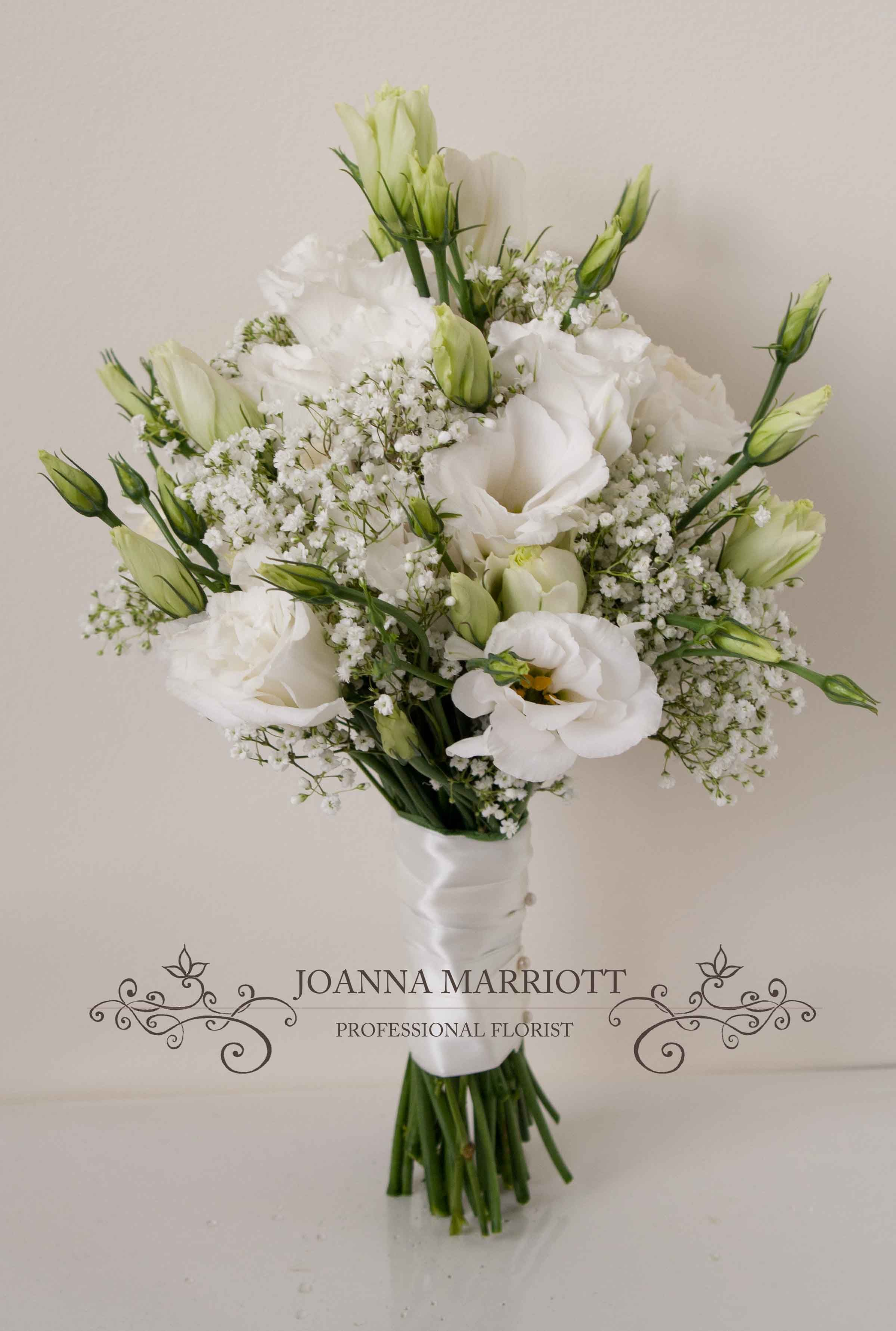 Wedding Bouquets With Lisianthus : White lisianthus and gypsophila bridesmaid bouquet aubrey s wedding