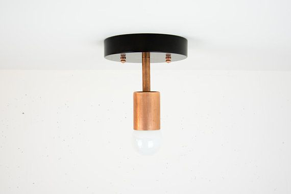 Modern Ceiling Light Industrial Lighting Copper Light Etsy Copper Lighting Modern Ceiling Light Light Fixtures Flush Mount