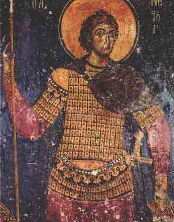 Byzantine warrior saint
