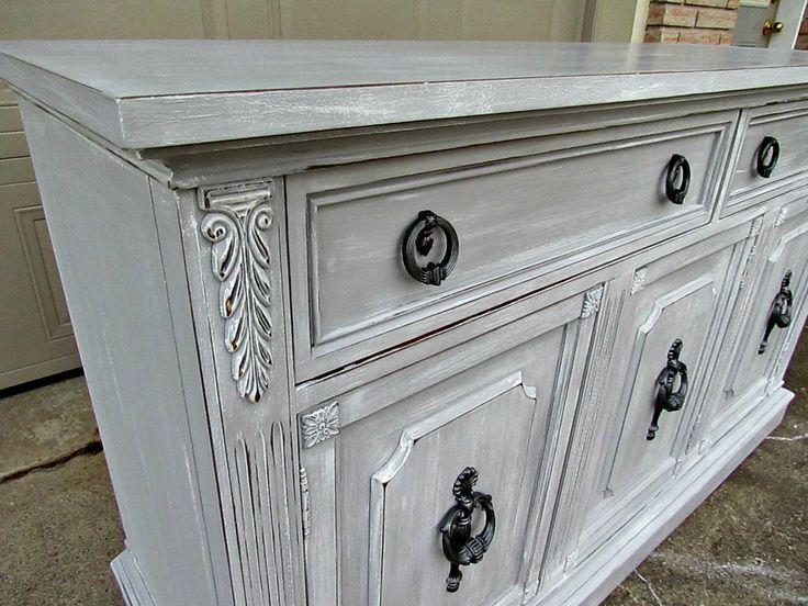 Hutch Makeover Chalk Paint Paris Grey