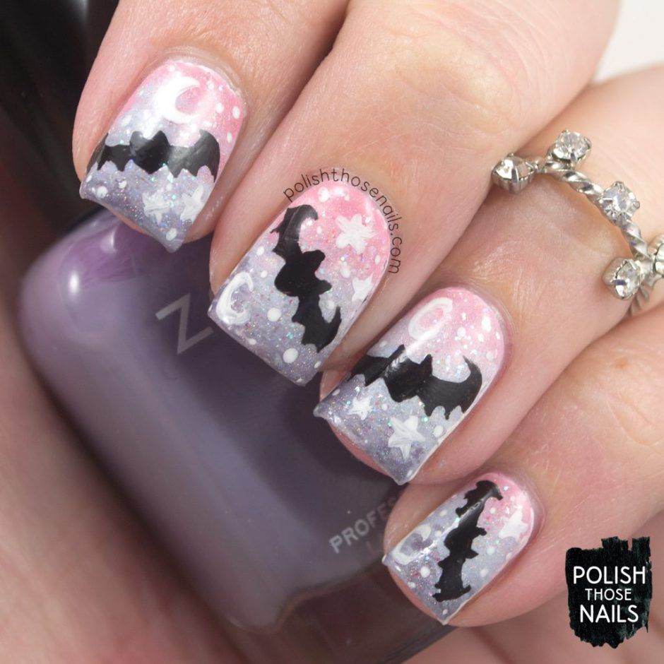 Pastel Goth Bats // Polish Those Nails // Challenge Your Nail Art ...